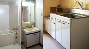 トイレ、浴室、洗面台、流し台などが備わっています。